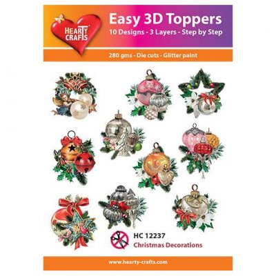 Hearty Crafts 3d kuvat: Christmas Decorations, 10 kpl