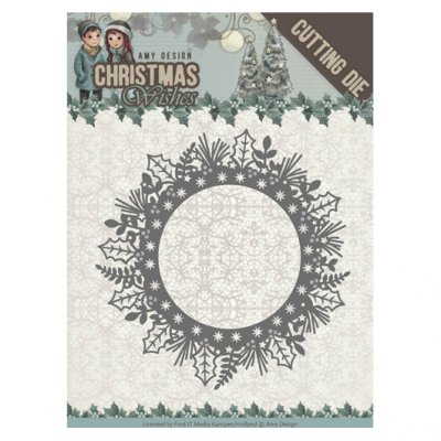 Amy Design -stanssi: Holly Wreath