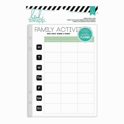 Heidi Swapp Memory Planner Family Activities pages