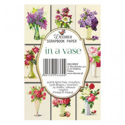 Decorer toppers: In a Vase, 24pcs
