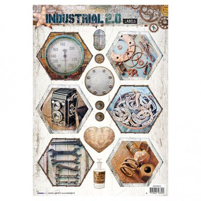 A4 Studiolight sheet: Industrial 2.0 (nr. 614)