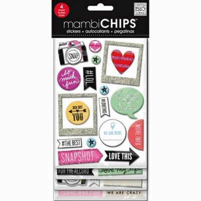 MAMBI chipboard stickers: Insta Love, 52 pcs