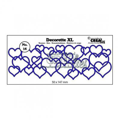 Crealies -stanssi: Interlocking hearts