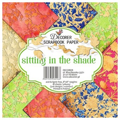 "Decorer paper pack, 8x8"": Sitting in the Shade"