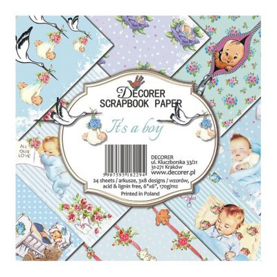 "6x6"" Decorer -paperikko: It's a Boy"