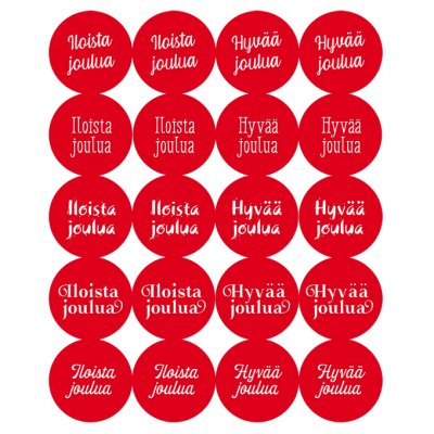 Dekorette stickers: Christmas wishes, circles