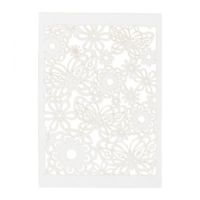A6 Backgrounds, 10 kpl - white lace pattern