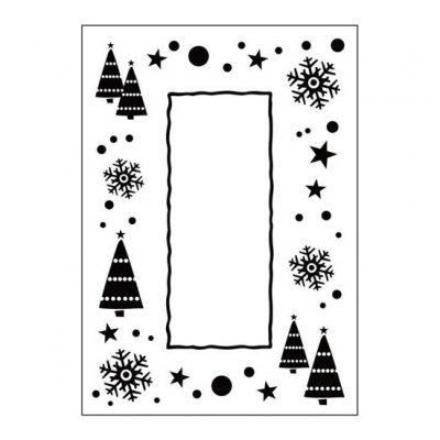 CT embossing folder: Let It Snow