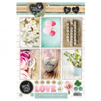 A4 Studiolight sheet: Love & Home
