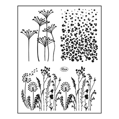 My Paperworld stamp set: Meadow Background