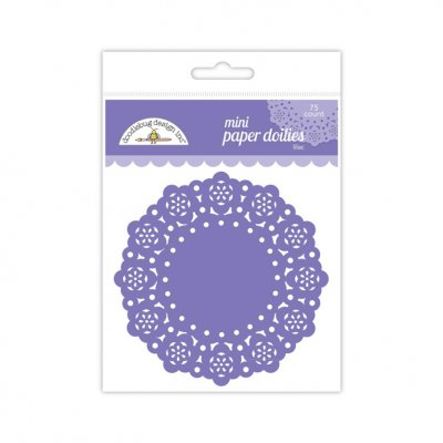 Doilies,  mini DB: Lilac, 75 pcs - lt purple