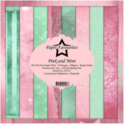 "12x12"" PF paper pack: Pink and Mint"