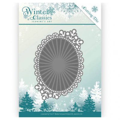 Jeanine's Art -stanssi: Winter Oval