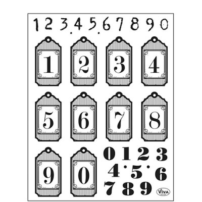 My Paperworld stamp set: Numbers