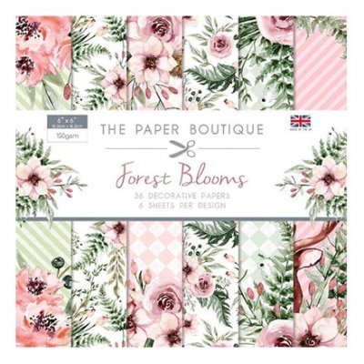 "6x6"" Paper Boutique paperikko: Forest Blooms"