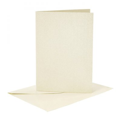 C6 Card and envelope pack, cream pearlecent, 4 pcs