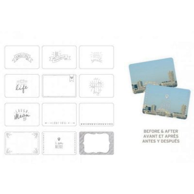 PL photo overlays: Silver Foil, 12 pcs