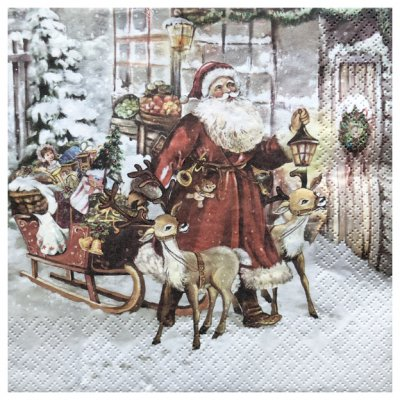 Servetti 33x33cm, 1 kpl: Santas Journey