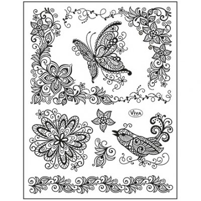 My Paperworld stamp set: Scribble butterfly