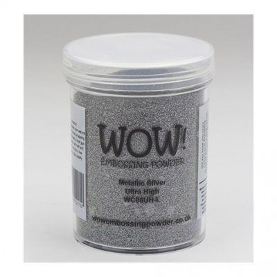 Wow! -kohojauhe 160ml:  Metallic silver (ultra high) - hopea