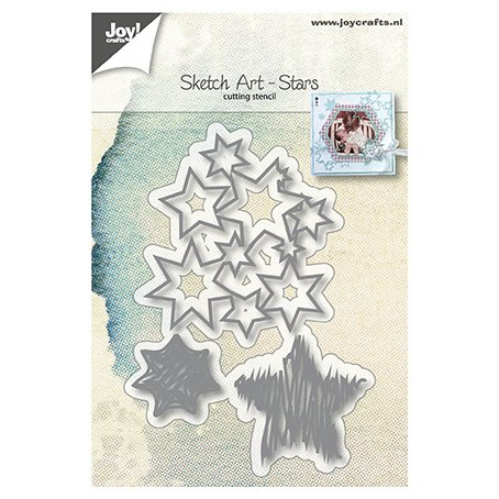 Joy Crafts -stanssit: Sketch Art Stars - tähdet