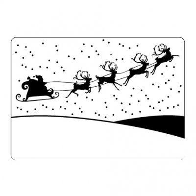 CT embossing folder: Sleigh