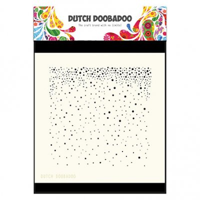 Dutch Doobadoo sabluuna: Snow, 6x6""