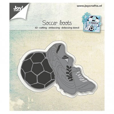 Joy Crafts -stanssi: Soccer boots - jalkapallo