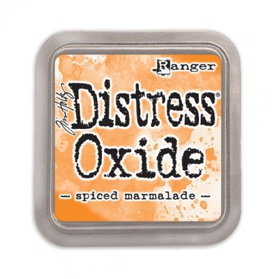 Distress Oxide -mustetyyny: Spiced Marmalade