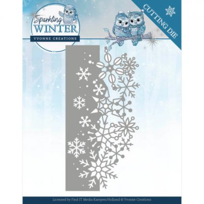 Yvonne Creations -stanssi: Sparkling Winter - Border