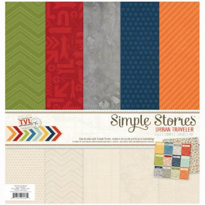 "Simple Stories -paperipakkaus 12x12"": Urban Traveler"