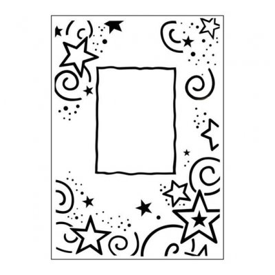 CT embossing folder: Stars Frame