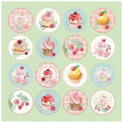 "Craft & You -kuviopaperi 12x12"": Sweet Dessert 07"