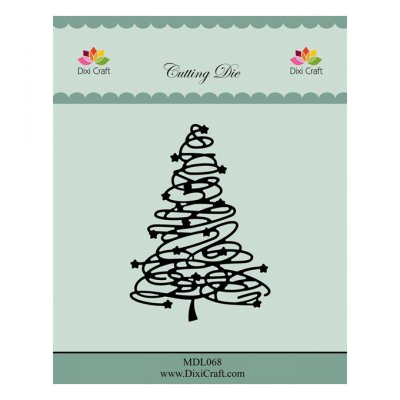 Dixi Craft -stanssi: Swirly Christmas tree