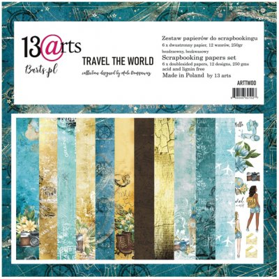 "12x12"" paperipakkaus, 13@rts: Travel the World"