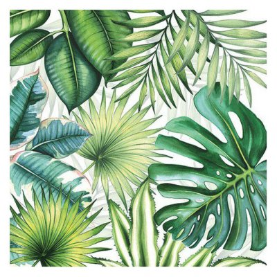 Servetti 33x33cm: Tropical leaves, 5 kpl