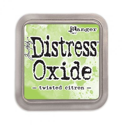 Distress Oxide -mustetyyny: Twisted Citron