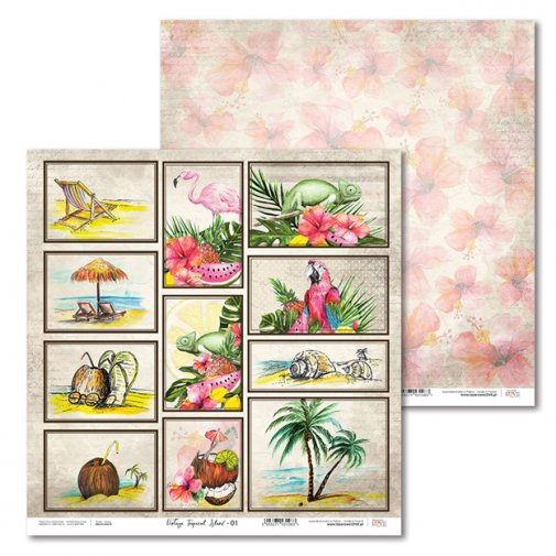 "LL -kuviopaperi 12x12"": Vintage Tropical Island 01"