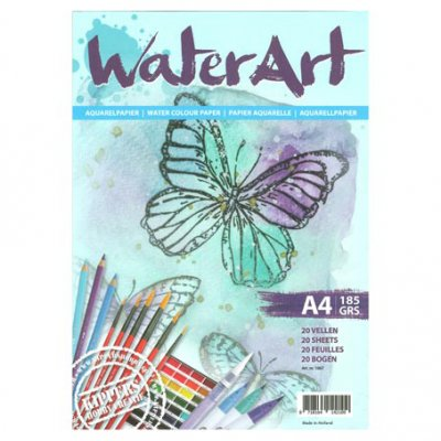 A4 Watercolour pad 185gr, WaterArt - 20 arkkia