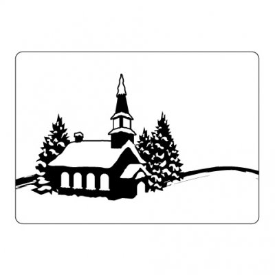 CT embossing folder: Winter Church